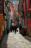 alley;alleys;alleyway;Bolivia;building;buildings;Calle-Jaen;capital;Capital-of-Bolivia;Chuqi-Yapu;cities;city;cobble-stone-streets;cobble_stoned;cobblestone;cobblestoned;cobblestones;heritage;historic;historic-building;historic-buildings;historical;historical-building;historical-buildings;history;La-Paz;Latin-America;Llama-Market;Llamas-market;narrow;narrow-street;narrow-streets;Nuestra-Señora-de-La-Paz;old;pedestrians;people;person;Qawra-Cancha;South-America;steep;steep-street;steep-streets;Sth-America;The-Americas;tradition;traditional