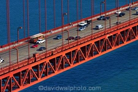 Traffic on Golden Gate Bridge, San Francisco Bay, San
